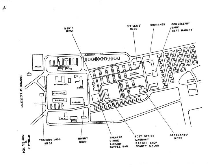 diagram of the old military base at churchill