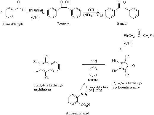 multistep synthesis of tetraphenylcyclopentadienone Multistep synthesis of tetraphenylcyclopentadienone in this laboratory experiment a synthesis was performed through several separate steps the purpose of the.
