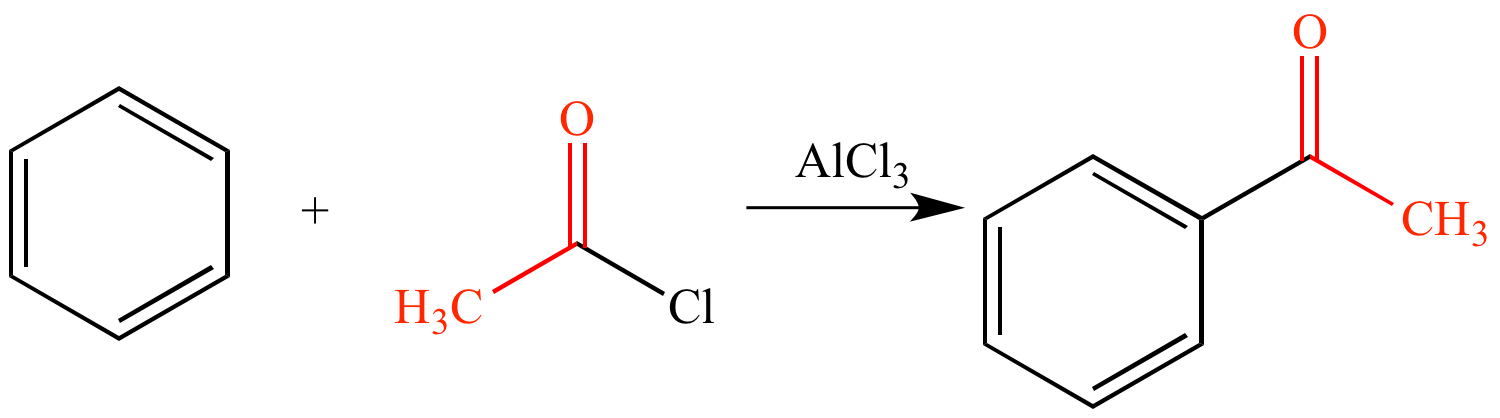 Friedel Crafts Acylation Of Benzene With Acetyl Chloride