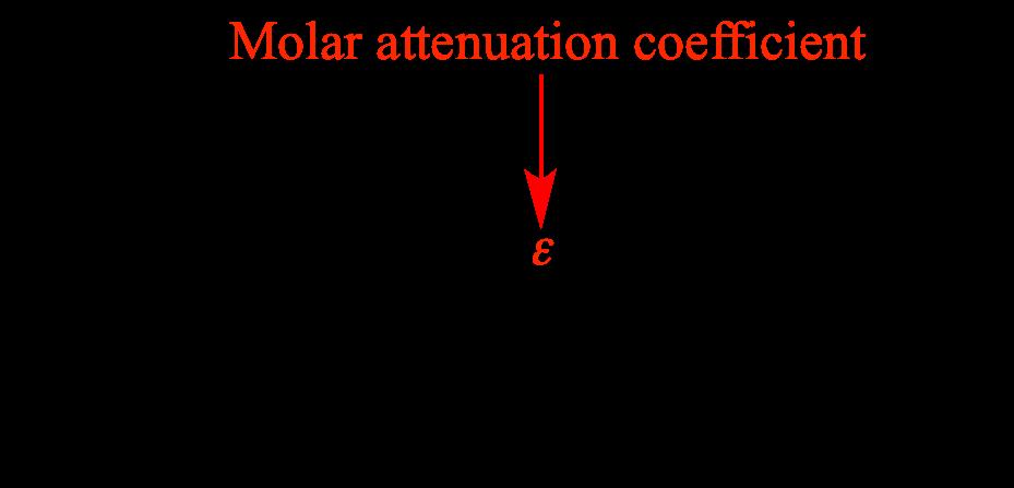 In The Beer Lambert Law Molar Attenuation Coefficient