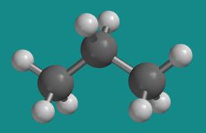 Molecular Structure of PropaneNonane Molecule