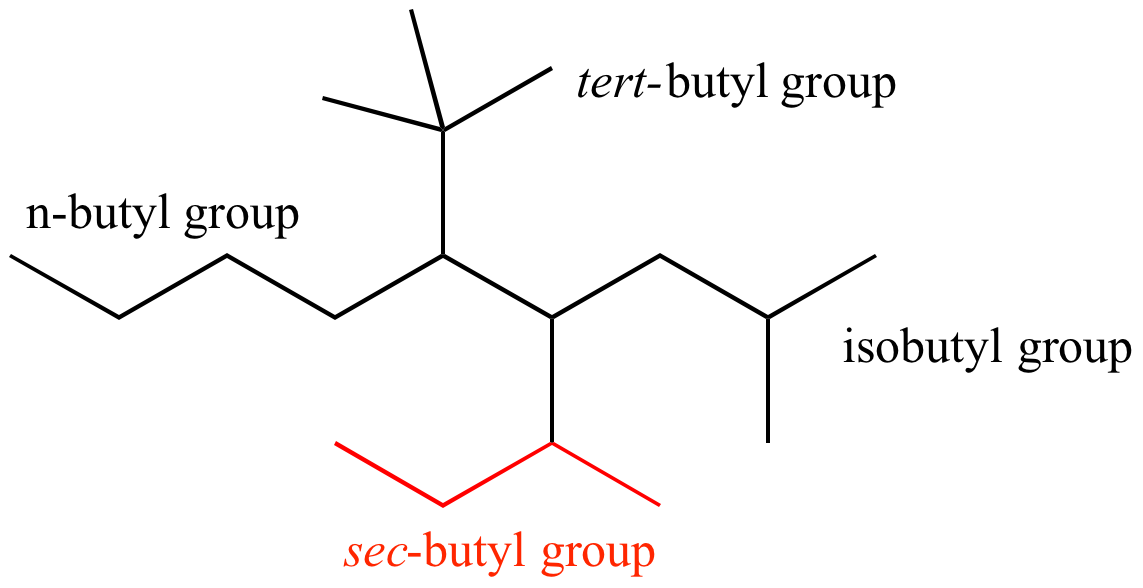 Illustrated Glossary Of Organic Chemistry Sec Butyl Group